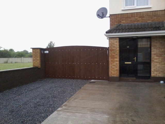 large timber entrance gates